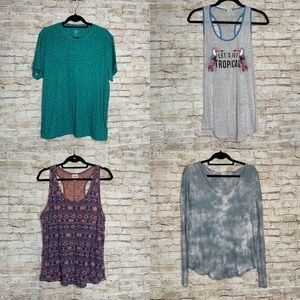 Bundle lot top sz L old navy soft and sexy short